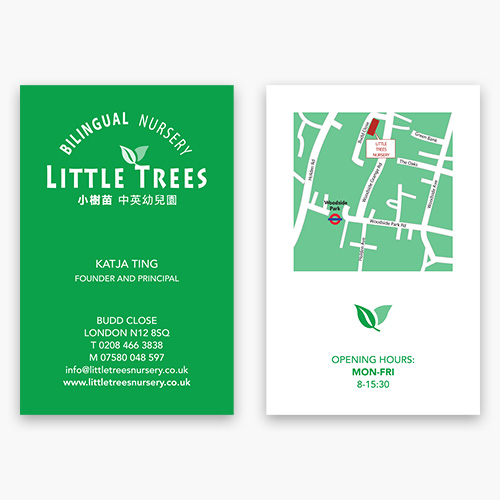 Little Trees business card