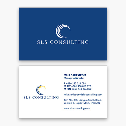 SLS Consulting business card