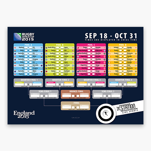 The Station Rugby WC 2015 A2 poster