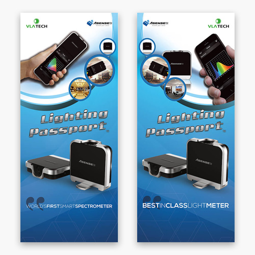 VLA Tech Lighting Passport roll up banner
